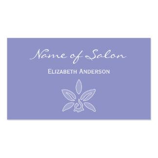 Salón simple y elegante en la lavanda violeta tarjetas de visita