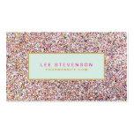Salón y boutique coloridos de belleza del brillo d plantillas de tarjeta de negocio