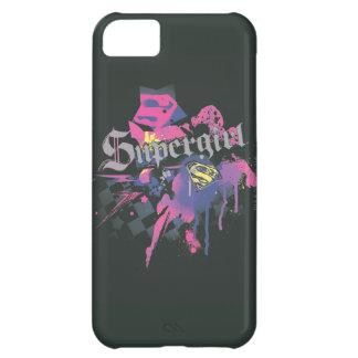 Salpicadura a cuadros de Supergirl Funda Para iPhone 5C