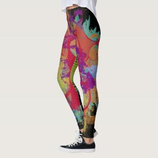 Salpicadura colorida del Grunge del miembro de la Leggings