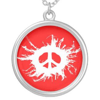 Salpicadura de la paz colgantes personalizados