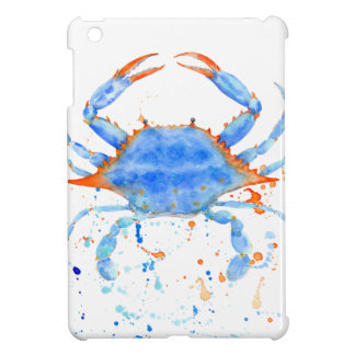 Salpicadura de la pintura del cangrejo azul de la