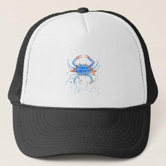 Salpicadura de la pintura del cangrejo azul de la gorra de camionero