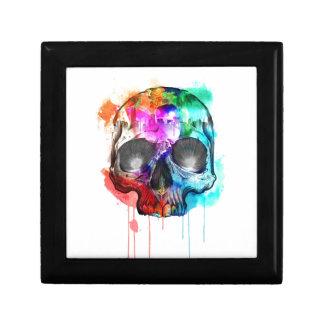 Salpicadura de la pintura del cráneo joyero