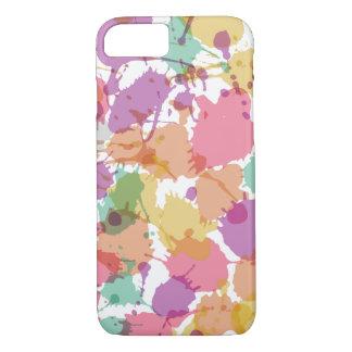 Salpicadura en colores pastel de la pintura funda iPhone 7