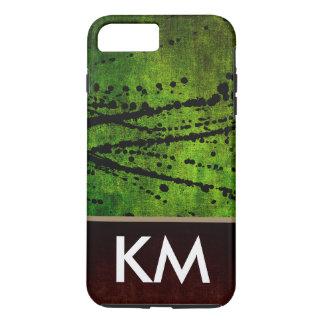 Salpicadura expresiva de la textura verde funda iPhone 7 plus