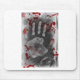 Salpicadura Handprint de la sangre Alfombrillas De Ratón