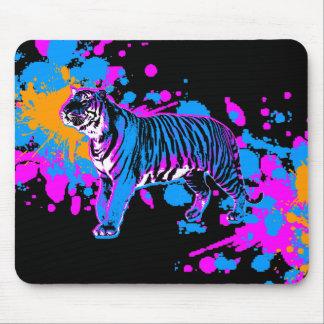 Salpicadura Mousepad de la pintura del tigre del t