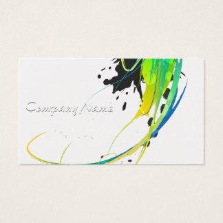 Salpicaduras abstractas de la pintura de aguas tarjeta de negocios