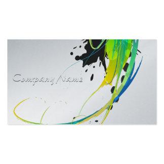 Salpicaduras abstractas de la pintura de aguas tarjetas de visita