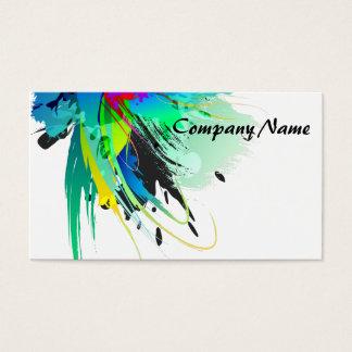 Salpicaduras abstractas de la pintura del pavo tarjeta de negocios