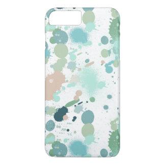 Salpicaduras de la pintura de la acuarela funda iPhone 7 plus
