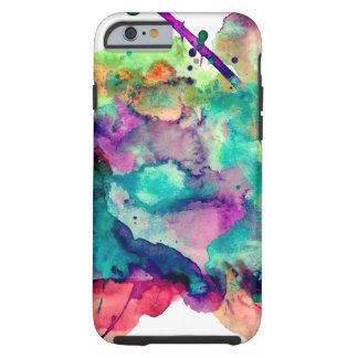 Salpicaduras únicas, intrépidas, coloridas de la funda resistente iPhone 6