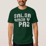 Salsa Amor y Paz Camisetas