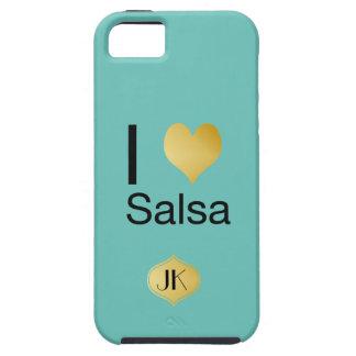 Salsa juguetónamente elegante del corazón de I Funda Para iPhone SE/5/5s