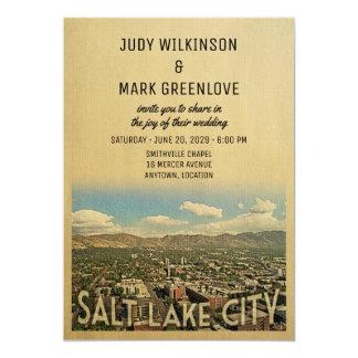 Salt Lake City que casa la invitación Utah