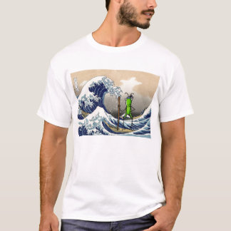 Saltamontes de la paciencia en un barco camiseta