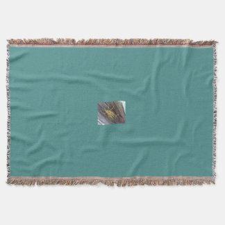 Saltamontes en la madera manta tejida