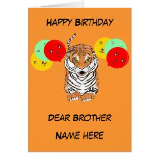 Saltando cumpleaños de los hermanos del tigre tarjetas