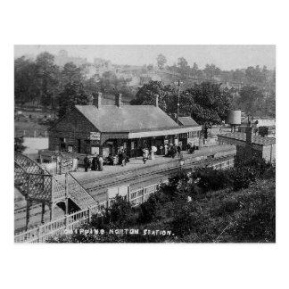 Saltar la postal del vintage del ferrocarril de