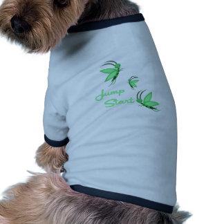 Salte el comienzo camiseta de perrito