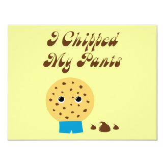 Salté mi galleta de microprocesador de chocolate invitación 10,8 x 13,9 cm