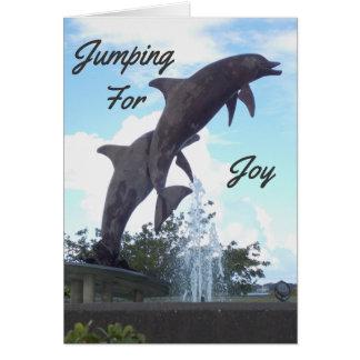 Salte para la tarjeta del delfín de la alegría