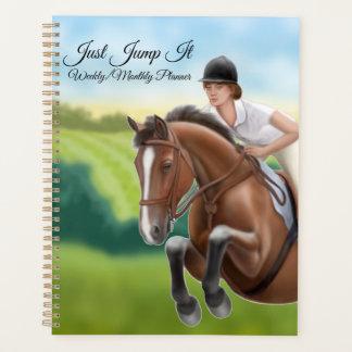 Sáltelo planificador mensual semanal del caballo