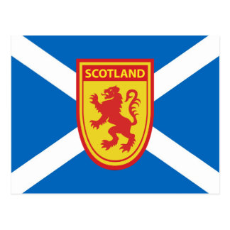 Saltire y postal del escudo de Escocia