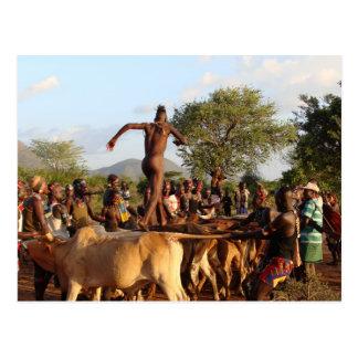 Salto de la ceremonia de los toros postal