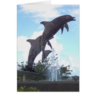 Salto de la tarjeta de los delfínes