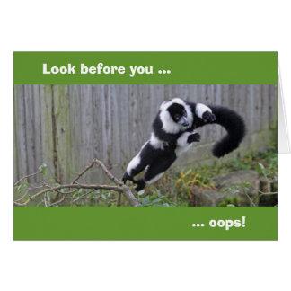 Salto de la tarjeta del lemur