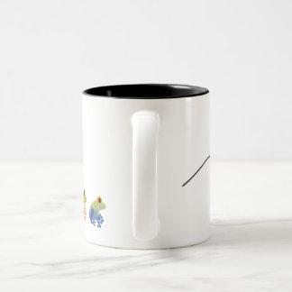 Salto de la taza de café de la rana