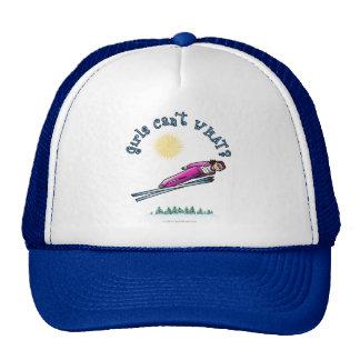 Salto del esquí de las mujeres gorras
