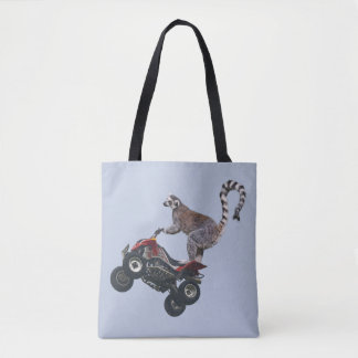 Salto del Lemur por todo bolso de la impresión