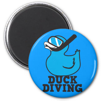 Salto del pato con la máscara de goma del duckie imán de frigorifico