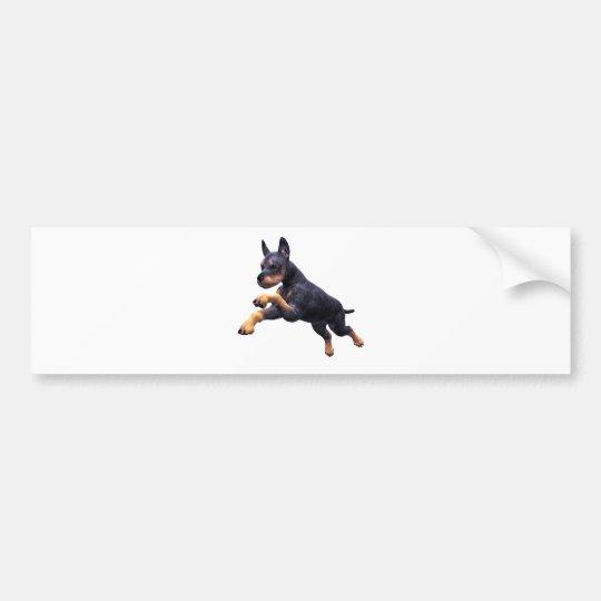Salto del perrito del Doberman Pegatina Para Coche