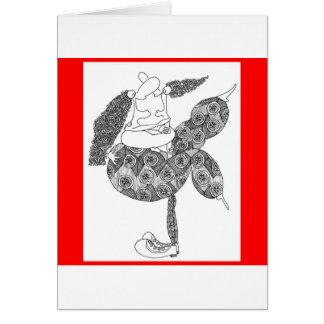 salto gordo tarjeta de felicitación