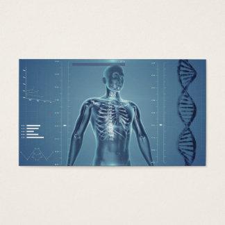 Salud de alta tecnología No.1 azul Tarjeta De Visita
