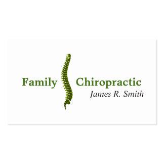 Salud de la clínica del Chiropractor de la Tarjetas De Visita