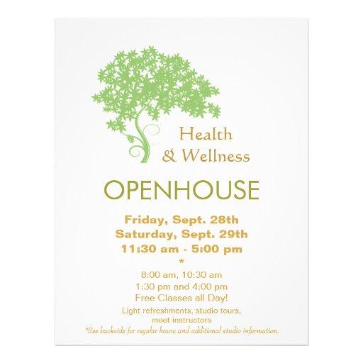 Salud del árbol verde y naturaleza holísticas de l tarjeta publicitaria