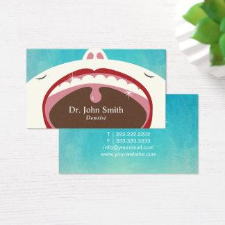 Salud dental del niño profesional del dentista tarjeta de visita