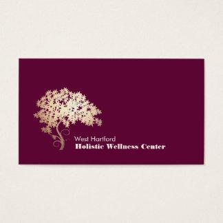 Salud holística y alternativa 1 del árbol del zen tarjeta de negocios