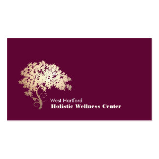 Salud holística y alternativa 1 del árbol del zen tarjeta de visita