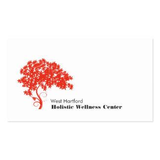 Salud holística y alternativa del árbol rojo tarjetas de visita