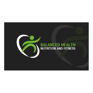Salud y coche de la nutrición tarjetas de visita