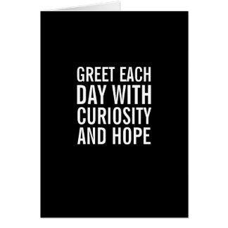 Salude el día con esperanza… y la tarjeta