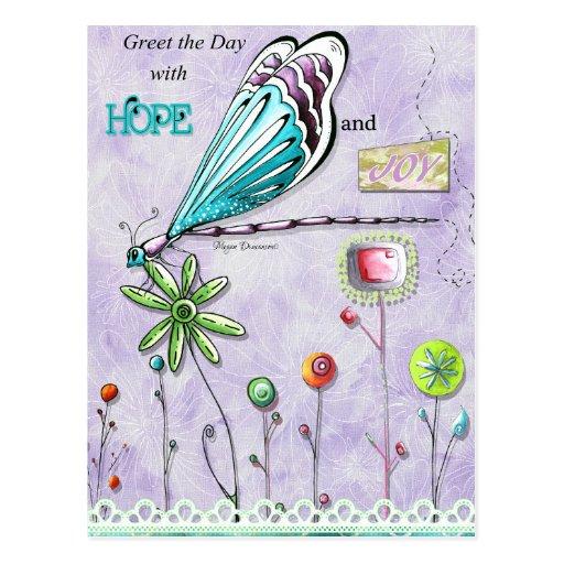 Salude el día con la postal de la alegría y de la