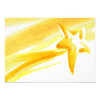 Saludo abierto de la estrella fugaz invitación 12,7 x 17,8 cm