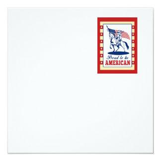 Saludo americano del poster del Día de la Invitación 13,3 Cm X 13,3cm